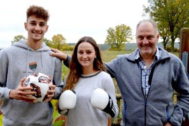 So hat Arnd Spranger seine Familie selten zusammen, schließlich lebt und trainiert Tochter Gina jetzt in Frankfurt (Oder).