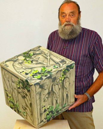 Jürgen Szajny hat für den Kunstaktion von Matthias Scheibner die erste Arbeit abgeliefert.