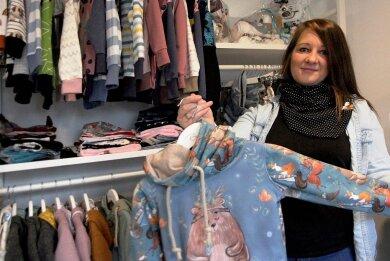 Franziska Reh aus Bernsbach hat ihr Leben von rechts auf links gedreht und einen sicheren Job gegen den Platz an der Nähmaschine getauscht.