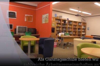 Virtueller Rundgang statt Schnuppertage und Tag der offenen Tür: Damit sich Viertklässler trotz Pandemie ein Bild von der Oberschule Sayda machen können, haben die Lehrer ein Video gedreht.