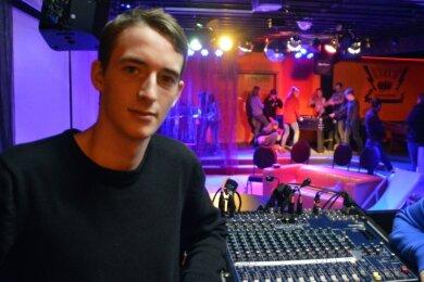 Georg Graebner ist am Wochenende in Augustusburg beim Konzert der Jungen Philharmonie für die Tontechnik zuständig.
