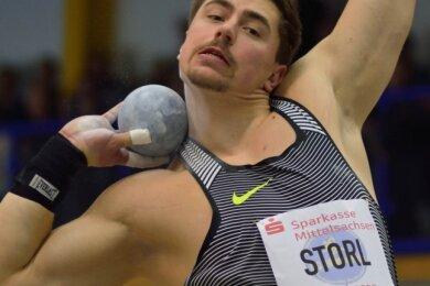 David Storl hat 2017 mit 21,37 Metern einen Meetingrekord gestoßen. Diesmal bestreitet er den Wettkampf in Rochlitz aus dem vollen Training heraus und lässt sich selbst überraschen, wie weit es geht.