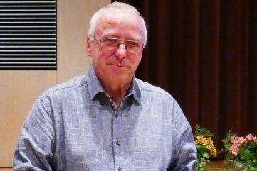 Klaus Frenzel mit der höchsten Auszeichnung des Landessportbundes Sachsen.