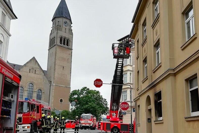 Wohnungsbrand im Plauener Stadtteil Haselbrunn