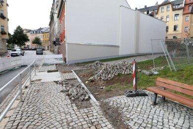 """Der """"Einheits-Stein"""" soll in diese Baulücke."""