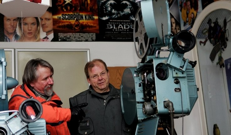 Wolfram Christ (links) und der ehemalige Betreiber Klaus Mehlhorn wollen das Union-Filmtheater zum Programmkino machen.