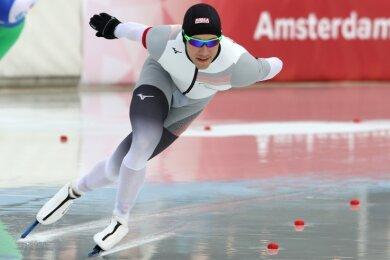 Michael Roth arbeitet mit neuem Trainer auf dem Eis. Vor allem sein Stehvermögen in der letzten Runde will der Mylauer noch verbessern.