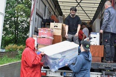 Ein Hilfstransport nach Rumänien ging von Wernitzgrün aus auf die Reise.