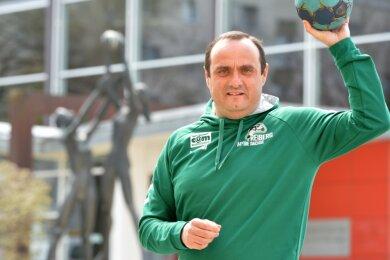Nach vorn blicken: Robert Adam trainiert aktuell die E-Jugend-Handballer der HSG Freiberg, zudem gehört derB-Lizenz-Inhaber zum neuen Team der Nachwuchskoordinatoren des Vereins.