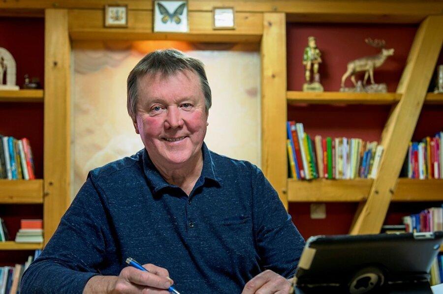 Olbernhaus Bürgermeister Heinz-Peter Haustein arbeitet derzeit tageweise von zuhause aus.