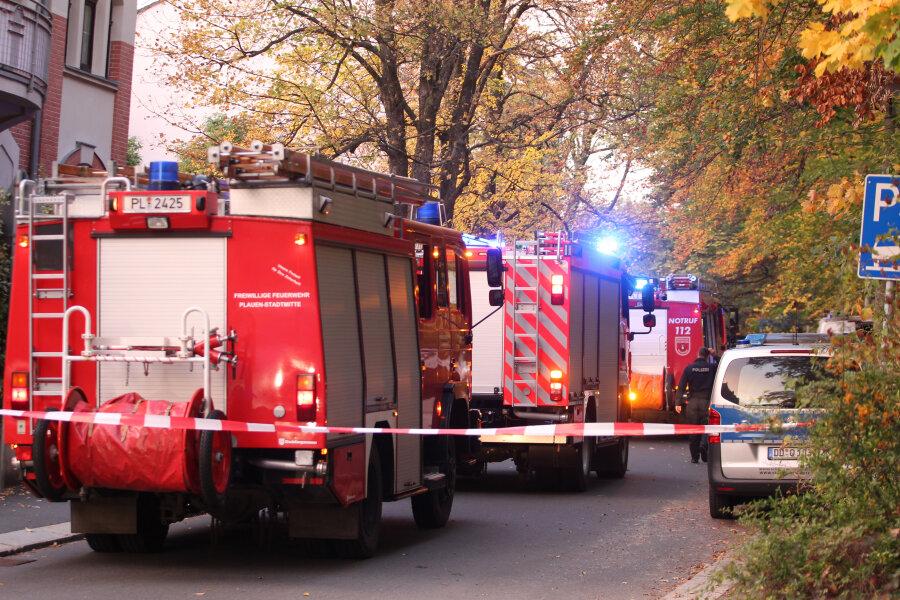 Wald gerät im Plauener Stadtteil Preißelpöhl in Brand