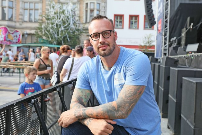 Willi Kühn und seine Mitarbeiter sind für die Stadtfest-Besucher oft der erste Ansprechpartner bei Problemen.