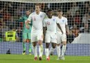 Raheem Sterling (m.) traf gegen Spanien doppelt