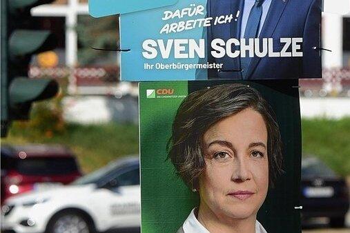 Sven Schulze (SPD) und Almut Patt (CDU) holten bei der ersten Runde der Oberbürgermeisterwahl die meisten Stimmen. Ihre Ausgangslage für den zweiten Wahlgang ist dennoch recht unterschiedlich.
