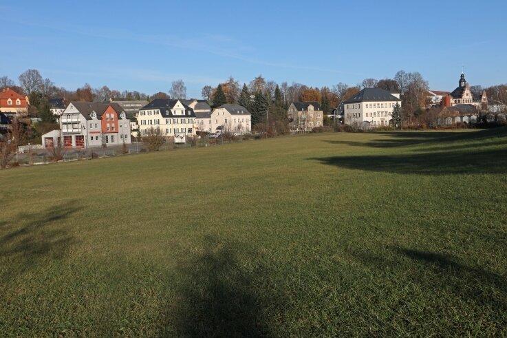 Beste Lage mit einigen Abstrichen: Die Freifläche zwischen Festplatz und Hirschgrundstraße, die derzeit als Bauland gilt.
