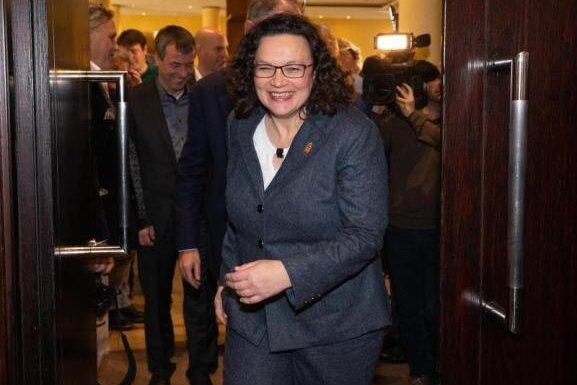 Andrea Nahles wirbt auf SPD-Neujahrsempfang für weltoffenes Chemnitz