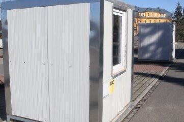 Die Container für die Schnelltests werden die erste Anlaufstation für Besucher der Stadt sein.