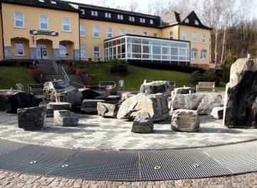 Am Musikbrunnen wird die Sanierung beginnen.