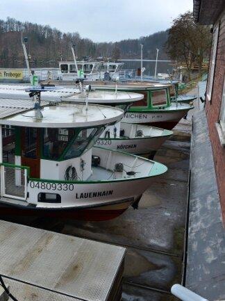 Die Flotte liegt derzeit noch an Land. An den Schiffen laufen Reparaturen.
