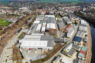 Das Werksgelände von Flender und Siemens Traction Gears in Penig.