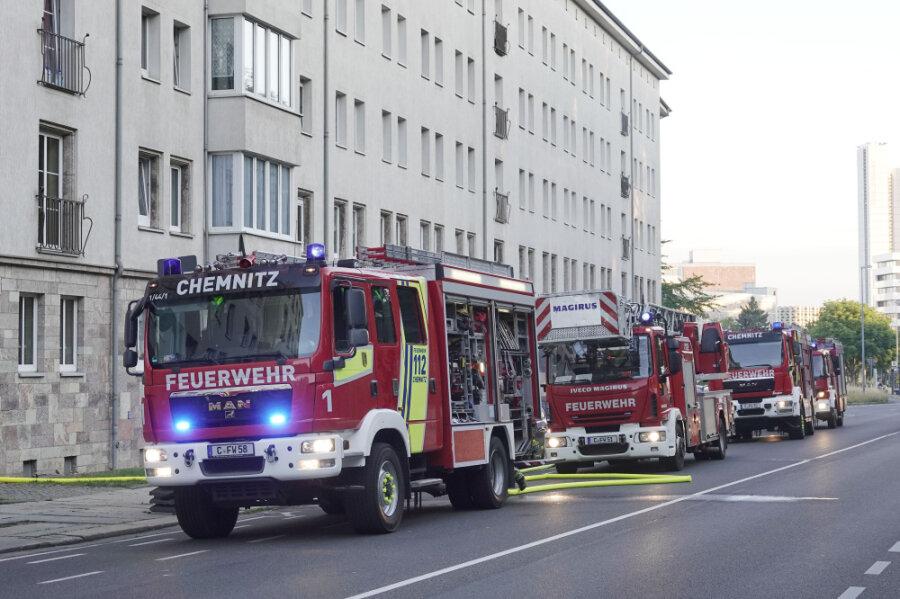 Küchenbrand an der Zschopauer Straße