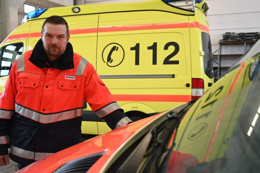 David Lehr leitet eine Schnelle-Einsatz-Gruppe in Burgstädt, die Rettungskräfte im Ernstfall unterstützt, wie jetzt in der Coronapandemie. Der Stützpunkt befindet sich im Gewerbegebiet Hartmannsdorf.