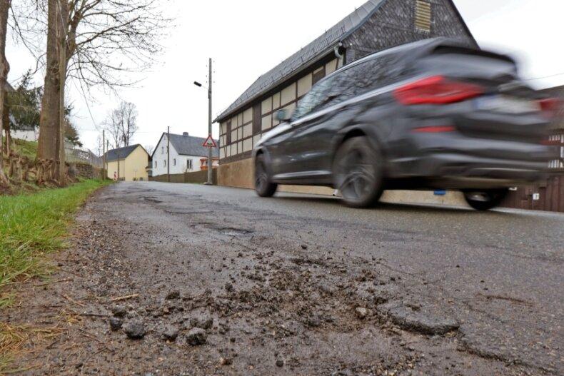 Sollte Fördergeld fließen, soll der letzte Abschnitt der Ortsdurchfahrt Reinsdorf ausgebaut werden.