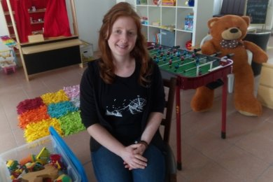 """Annelie Kießling im Familienzentrum an der Piazza """"Roten Turm"""" in Crimmitschau"""
