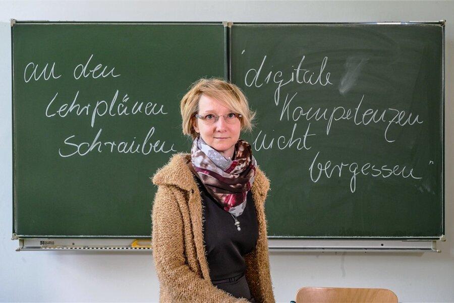 Annett Hertel, Mitglied im Landeselternrat Sachsen und Vorsitzende des Zwickauer Kreiselternrates.