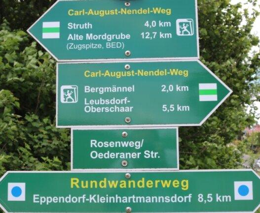 Rund um Eppendorf gibt es bereits ein Wanderwegenetz, das unter Regie von Wanderwegewartin Waltraud Göpfert ausgebaut wurde.