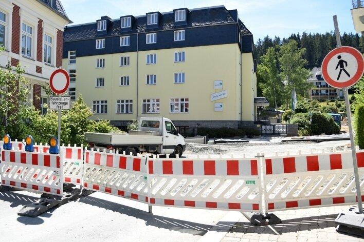 Besonders von den Arbeiten in Bad Elster betroffen war das Seniorenheim Haus am See.