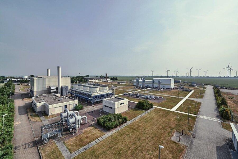 """Das """"Reallabor der Energiewende"""": Im """"Energiepark Bad Lauchstädt"""" soll die Erzeugung, die Speicherung, der Transport und die Nutzung von Wasserstoff in großem Maßstab erprobt werden."""