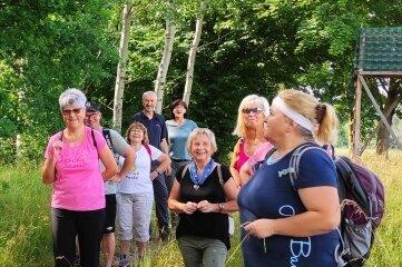 Zum ersten Mal gemeinsam auf Tour: Mitglieder der Abteilung Wandern des SV Fortschritt Lunzenau.