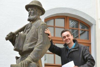 Der 23-jährige Julien Göthel aus Freiberg hat ein Bergmannsgedicht verfasst.
