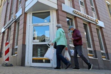 Die Glauchauer Filiale der Commerzbank hat noch bis einschließlich 10. Dezember geöffnet. Danach zeiht sie nach Meerane um.