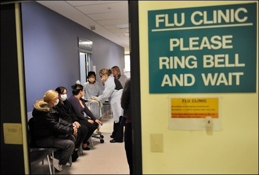 Die von der Weltgesundheitsorganisation (WHO) als Pandemie eingestufte Schweinegrippe hat mehrere Vorgänger. Die Influenza verursachte im vergangenen Jahrhundert bereits drei größere Pandemien. Das Foto zeigt die Behandlung von Grippe-Patienten in Melbourne.