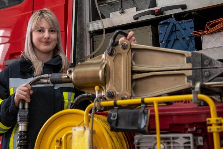Die 21-jährige Sophia Wein hat bereits 53 Einsätze bei der Lunzenauer Feuerwehr mitgemacht.