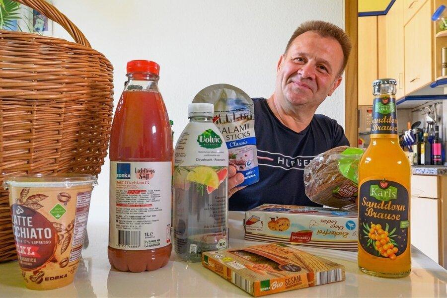 Die Brause und den Fruchtsaft wird Heiko B. aus Chemnitz seiner Familie überlassen. Als Diabetiker sind für ihn fruchtzuckerhaltige Getränke nicht geeignet. Er lässt sich nicht mit Insulin behandeln, muss dafür bei der Lebensmittelauswahl etwas aufpassen.