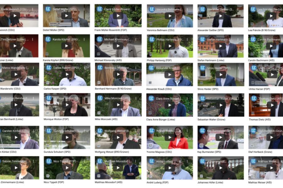 """Video-Reihe """"Drei Fragen an..."""" - Die Kandidaten aus der Region im Kurzinterview"""