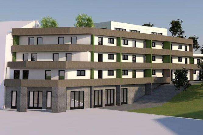 Neuer Entwurf: Das Gebäude an der Kurpromenade soll nun kürzer ausfallen, zudem ist es nach hinten gestuft. So schrumpft die Nutzfläche. Auch die Optik ist verändert worden.