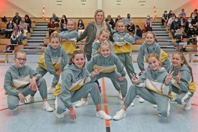 Die Little Dragonflies bescherten der TSG Rubin Zwickau mit ihrem Erfolg bei den Kindergruppen einen erfolgreichen Wettkampfauftakt.