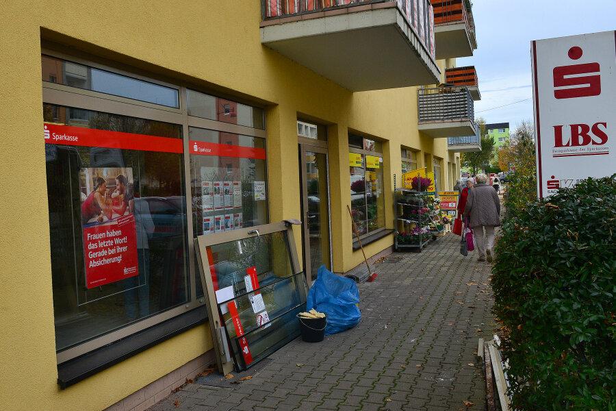 Die Sparkassenfiliale im Neubaugebiet in Mittweida an der Lauenhainer Straße soll zum Jahreswechsel geschlossen werden.