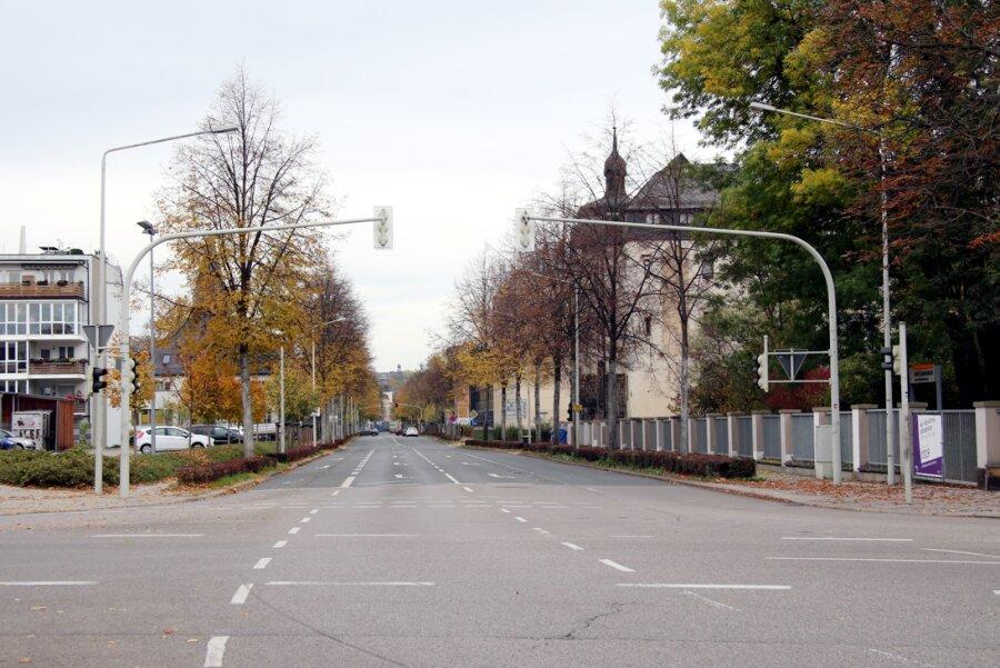 Auch wenn es hier gerade nicht so aussieht: Die Kolpingstraße ist eine der wichtigsten Verbindungsstraßen in Zwickau.