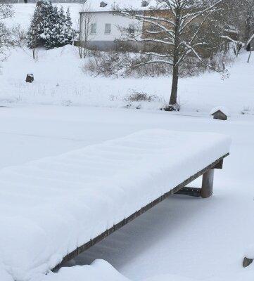 Zurzeit sind auch die Teiche im Oberland - hier in Hermsgrün - unter einer dicken Schneedecke versteckt.