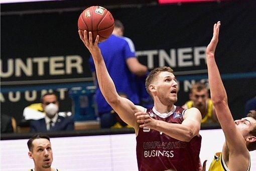 Jonas Richter machte bei der Niederlage gegen Alba Berlin 18 Punkte und war damit zweitbester Werfer des Teams.
