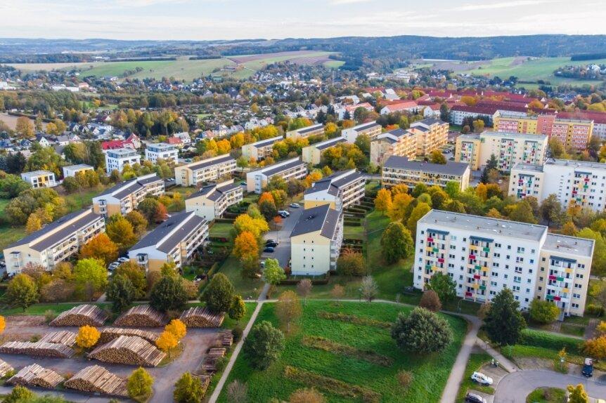 Das Albrecht-Dürer-Wohngebiet in Stollberg. Die Stadt übernimmt die Wärmeversorgung für die Siedlung bald in eigene Regie.