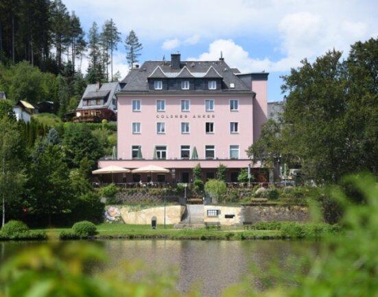 Hotel und Restaurant Goldner Anker in Bad Elster.