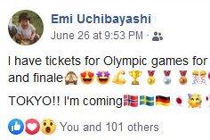 Emi Uchibayashi ergattert Olympia-Tickets
