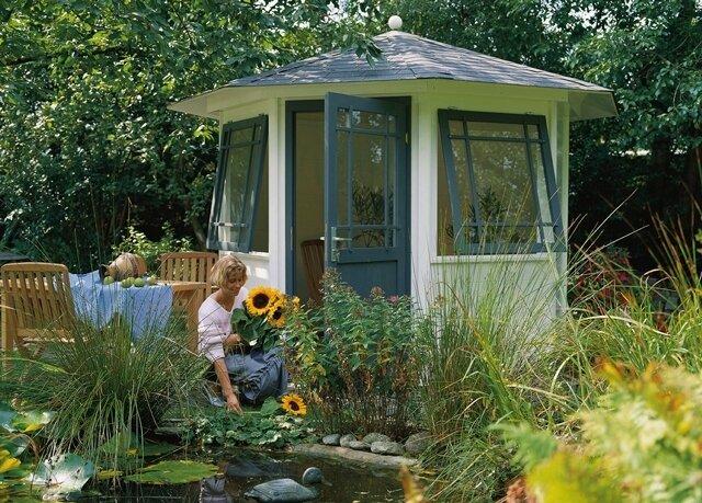 Den Ideen der Gestaltung von Gartenhäusern sind keine Grenzen gesetzt.