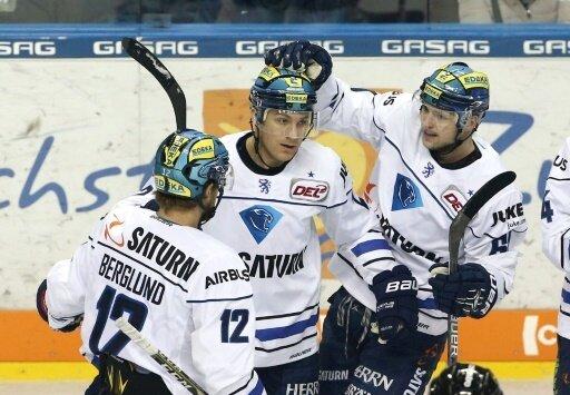 Der ERC Ingolstadt feiert einen Auswärtssieg
